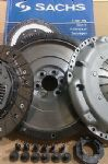 VW CADDY 1.9 TDI 2004 ON, SMF FLYWHEEL & CARBON KEVLAR LINED SACHS CLUTCH